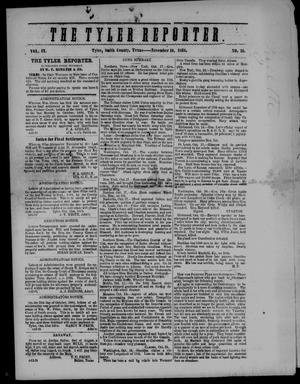 Primary view of object titled 'The Tyler Reporter (Tyler, Tex.), Vol. 9, No. 46, Ed. 1 Thursday, November 10, 1864'.