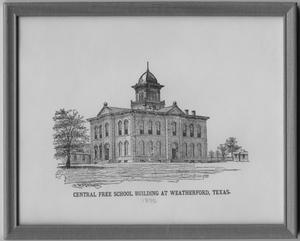 Primary view of object titled '[Drawing of Central Free School Building]'.