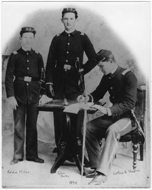Primary view of object titled '[Weatherford College military students, 1894]'.