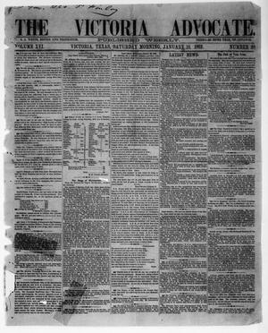Primary view of object titled 'The Victoria Advocate. (Victoria, Tex.), Vol. 16, No. 20, Ed. 1 Saturday, January 18, 1862'.