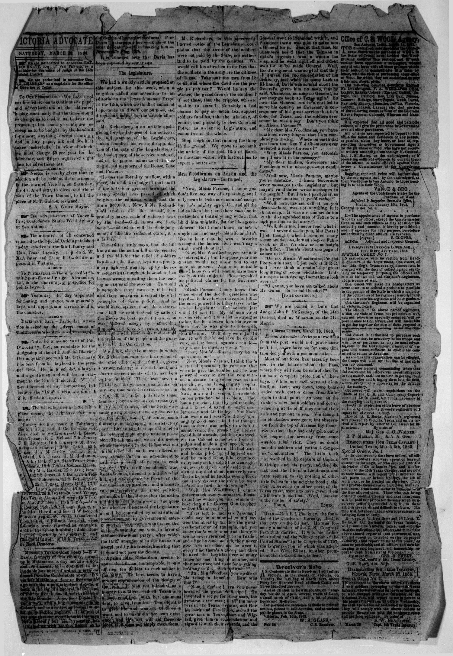 The Victoria Advocate  (Victoria, Tex ), Vol  17, No  30, Ed