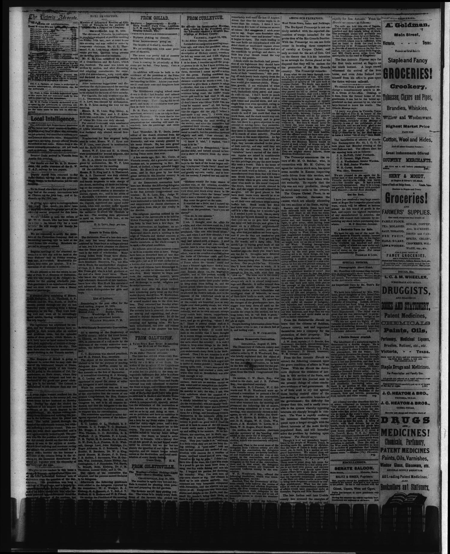 The Victoria Advocate  (Victoria, Tex ), Vol  30, No  15, Ed