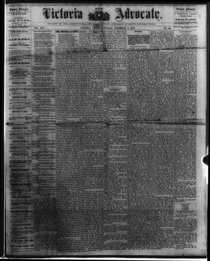 Primary view of object titled 'The Victoria Advocate. (Victoria, Tex.), Vol. 30, No. 30, Ed. 1 Saturday, December 9, 1876'.