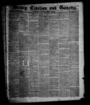 Primary view of object titled 'Weekly Civilian and Gazette. (Galveston, Tex.), Vol. 16, No. 44, Ed. 1 Tuesday, January 31, 1854'.