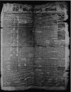 Primary view of object titled 'The Weatherford Times. (Weatherford, Tex.), Vol. 16, No. 16, Ed. 1 Saturday, April 21, 1883'.