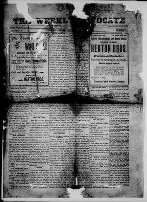 Primary view of object titled 'The Weekly Advocate (Victoria, Tex.), Vol. 55, No. 33, Ed. 1 Saturday, January 25, 1902'.