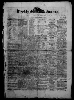 Primary view of object titled 'Weekly Journal. (Galveston, Tex.), Vol. 1, No. 44, Ed. 1 Tuesday, December 24, 1850'.