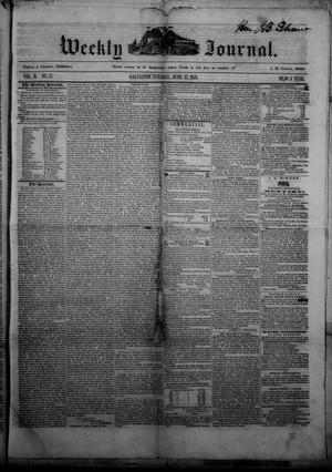 Primary view of object titled 'Weekly Journal. (Galveston, Tex.), Vol. 2, No. 17, Ed. 1 Tuesday, June 17, 1851'.