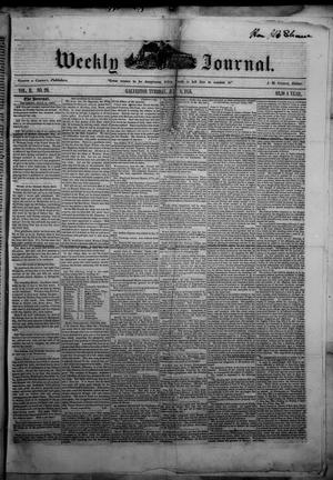 Primary view of object titled 'Weekly Journal. (Galveston, Tex.), Vol. 2, No. 20, Ed. 1 Tuesday, July 8, 1851'.