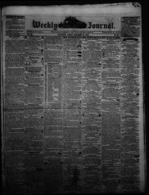 Primary view of object titled 'Weekly Journal. (Galveston, Tex.), Vol. 3, No. 37, Ed. 1 Friday, December 24, 1852'.