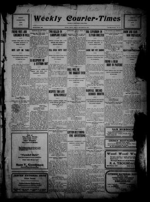 Weekly Courier-Times. (Tyler, Tex.), Vol. 28, No. 52, Ed. 1 Friday, December 30, 1910