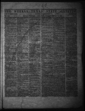 Primary view of object titled 'The Weekly Texas State Gazette. (Austin, Tex.), Vol. 13, No. 25, Ed. 1 Saturday, January 25, 1862'.