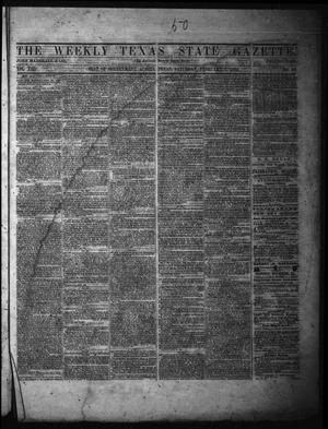 Primary view of object titled 'The Weekly Texas State Gazette. (Austin, Tex.), Vol. 13, No. 26, Ed. 1 Saturday, February 1, 1862'.