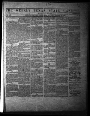 Primary view of object titled 'The Weekly Texas State Gazette. (Austin, Tex.), Vol. 13, No. 29, Ed. 1 Saturday, February 22, 1862'.