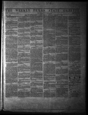 Primary view of object titled 'The Weekly Texas State Gazette. (Austin, Tex.), Vol. 13, No. 30, Ed. 1 Saturday, March 1, 1862'.