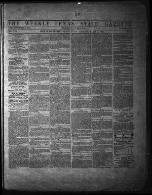 Primary view of object titled 'The Weekly Texas State Gazette. (Austin, Tex.), Vol. 13, No. 31, Ed. 1 Saturday, March 8, 1862'.