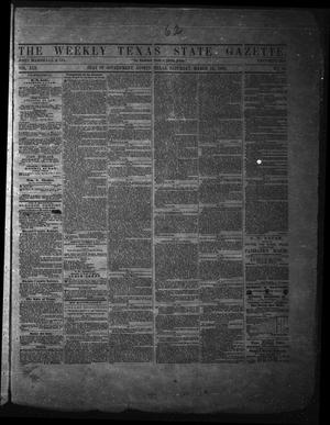 Primary view of object titled 'The Weekly Texas State Gazette. (Austin, Tex.), Vol. 13, No. 32, Ed. 1 Saturday, March 15, 1862'.
