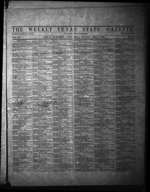 Primary view of object titled 'The Weekly Texas State Gazette. (Austin, Tex.), Vol. 13, No. 35, Ed. 1 Saturday, April 5, 1862'.