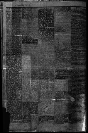 Primary view of object titled 'The Weekly Southern Intelligencer. (Austin City, Tex.), Vol. 1, No. 3, Ed. 1 Friday, July 21, 1865'.