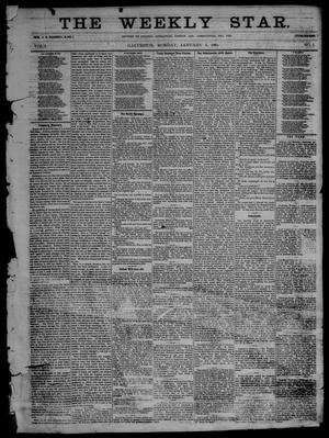 Primary view of object titled 'The Weekly Star. (Galveston, Tex.), Vol. 1, No. 1, Ed. 1 Monday, January 4, 1869'.