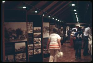 [People Walk Through An Exhibit at Fayette Public Library]