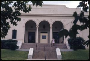 Primary view of object titled '[Austin Public Library Exterior]'.