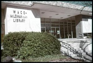 Primary view of object titled '[Waco-McLennan County Library Exterior]'.