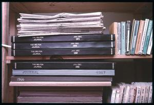 Primary view of object titled '[Stack of Belton Journals]'.