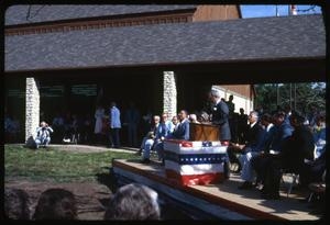 Primary view of object titled '[Crowd at a Fayette Public Library Outdoor Speaking Event #1]'.