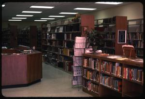 Primary view of object titled '[Teague Public Library Interior #1]'.