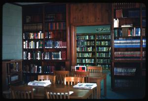 Primary view of object titled '[Marlin Public Library Interior]'.