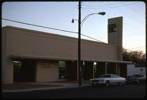 Primary view of object titled '[East Side Branch Library Exterior #1]'.