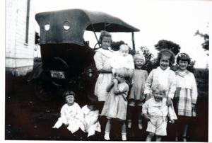 Primary view of object titled '[Children in front of Model T]'.