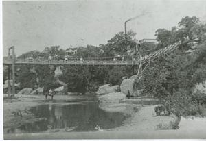 Primary view of object titled '[Chautauqua Grounds bridge]'.