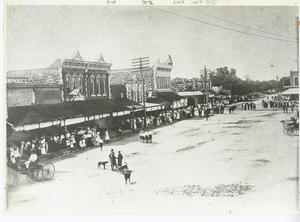 Primary view of object titled '[Main Street with buggies, Georgetown]'.