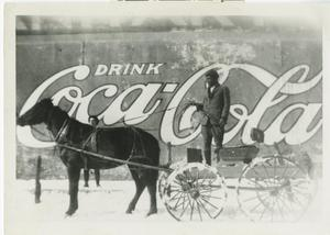 Primary view of object titled '[Delivery man with horse & buggy]'.