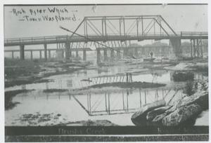 Primary view of object titled '[Brushy Creek with bridge]'.