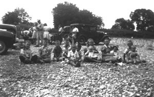 Primary view of object titled '[Hutto Swedish Lutheran Church Sunday School picnic]'.