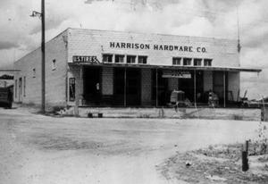 Primary view of object titled '[Harrison Hardware Store]'.