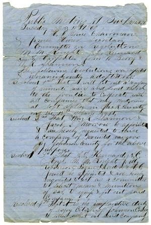 Primary view of object titled '[Minutes of Public Meeting, December 11,1860]'.