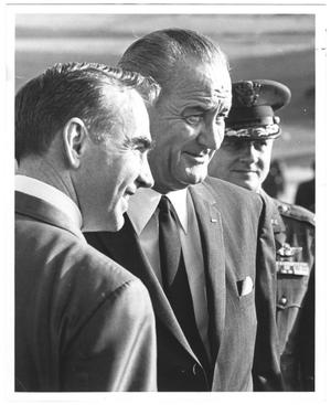 Primary view of object titled '[Jim Wright and Lyndon B. Johnson]'.