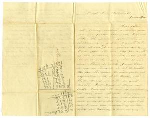 Primary view of object titled '[Letter from D. S. Kennard to A. D. Kennard Jr., January 29,1862]'.