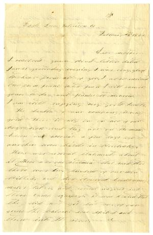 Primary view of object titled '[Letter from D. S. Kennard, February 2,1862]'.