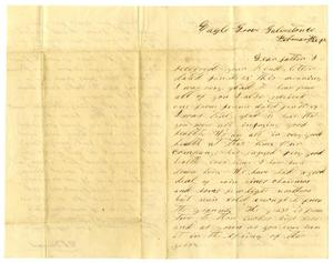 Primary view of object titled '[Letter from D. S. Kennard to A. D. Kennard Jr., February 2,1862]'.