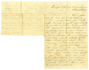 Primary view of object titled '[Letter from D. S. Kennard to his Father, March 4, 1862]'.