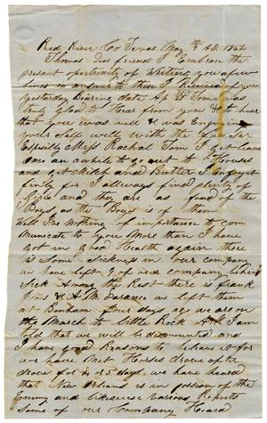 Primary view of object titled '[Letter from Joseph Graham to Thomas Westbrook, May 9th, 1862]'.
