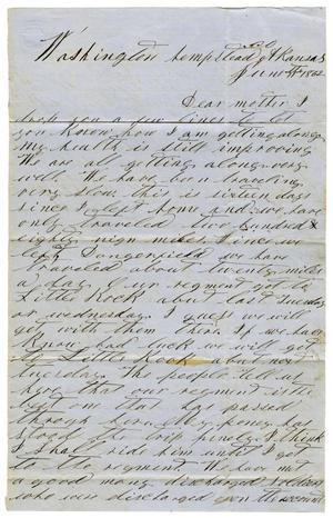 Primary view of object titled '[Letter from David S. Kennard to Sarah Kennard, June 11, 1862]'.