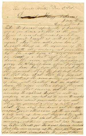 Primary view of object titled '[Letter from David S. Kennard to his father A. D. Kennard,Jr, June 21, 1862]'.