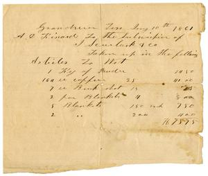 Primary view of object titled '[Subscription Receipt, July 10, 1861]'.