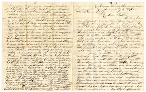 Primary view of object titled '[Letter from A.D. Kennard to his brother, January 4, 1861]'.
